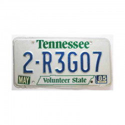 Plaque d Immatriculation USA - Tennessee ( 295 )