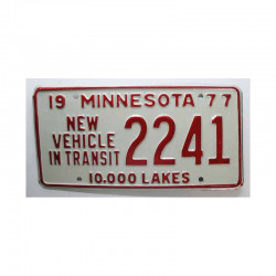 Plaque d Immatriculation USA - Minnesota ( 294 )
