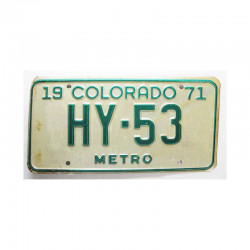 Plaque d Immatriculation USA - Colorado ( 293 )