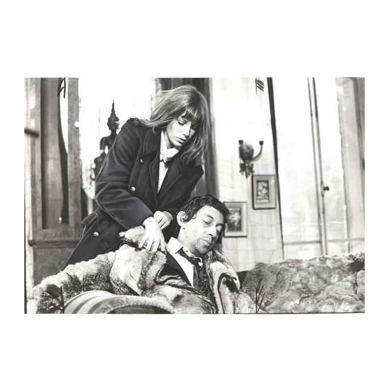 photo originale de Serge Gainsbourg  et Jane Birkin ( BEA )