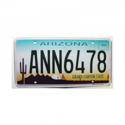 Plaque d Immatriculation USA - Arizona ( 354 )