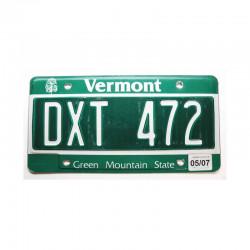 Plaque d Immatriculation USA - Vermont ( 376 )