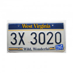 Plaque d Immatriculation USA - West Virginia ( 378 )