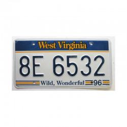 Plaque d Immatriculation USA - West Virginia ( 379 )