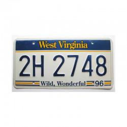 Plaque d Immatriculation USA - West Virginia ( 380 )