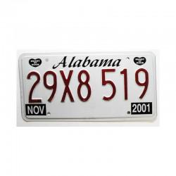 Plaque d Immatriculation USA - Alabama ( 384 )