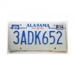 Plaque d Immatriculation USA - Alabama ( 385 )