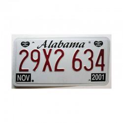 Plaque d Immatriculation USA - Alabama ( 386 )