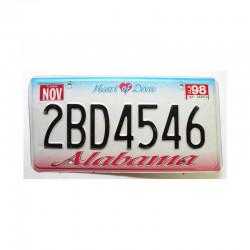 Plaque d Immatriculation USA - Alabama ( 388 )