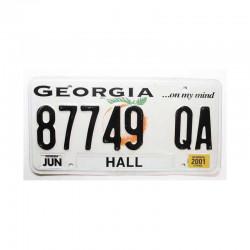 Plaque d Immatriculation USA - Georgia ( 411 )