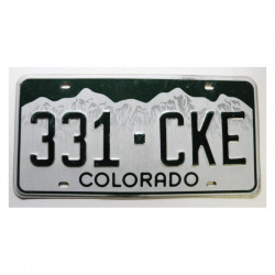 Plaque d Immatriculation USA - Colorado ( 399 )