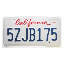 Plaque d Immatriculation USA - California ( 395 )