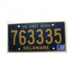 Plaque d Immatriculation USA - Delaware ( 415 )