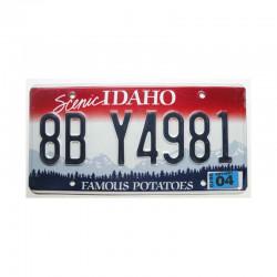 Plaque d Immatriculation USA - Idaho ( 420 )