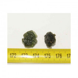 2 Moldavites vertes ( meteorite -Tectite - 2.85 grs - 009 )