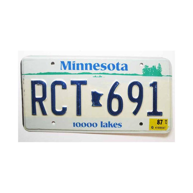 Plaque d Immatriculation USA - Minnesota ( 499 )