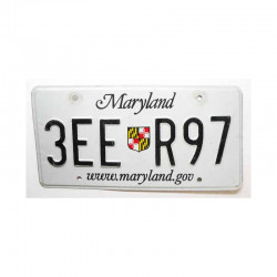 Plaque d Immatriculation USA - Maryland ( 496 )