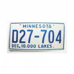 Plaque d Immatriculation USA - Minnesota ( 493 )