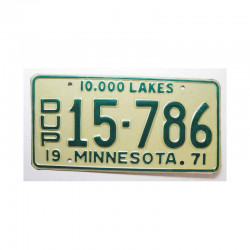 Plaque d Immatriculation USA - Minnesota ( 492 )