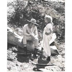 photo originale de Jean Seberg et et Clint Eastwood ( BNH )