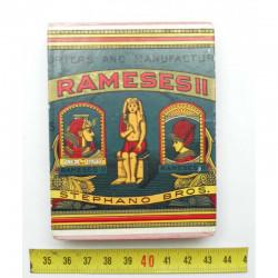 Paquet de cigarettes Rameses II Vide WWI ( 004 )