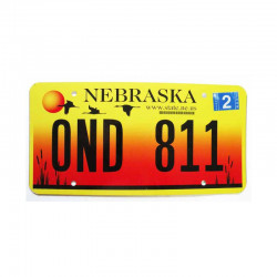 Plaque d Immatriculation USA - Nebraska  ( 515 )