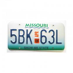 Plaque d Immatriculation USA - Missouri ( 508 )