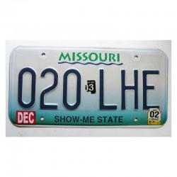 Plaque d Immatriculation USA - Missouri ( 507 )