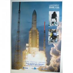 Poster officiel Ariane 5 Lancement du 29 octobre 2009