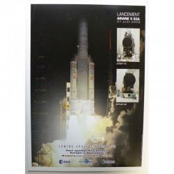 Poster officiel Ariane 5 Lancement du 21 Aout 2009