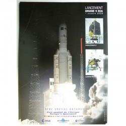Poster officiel Ariane 5 Lancement du 01 Octobre 2009