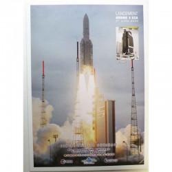 Poster officiel Ariane 5 Lancement du 01 juillet 2009
