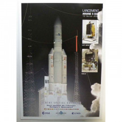 Poster officiel Ariane 5 Lancement du 12 fevrier 2009