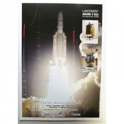 Poster officiel Ariane 5 Lancement du 20 decembre 2008