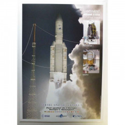 Poster officiel Ariane 5 Lancement du 07 juillet 2008