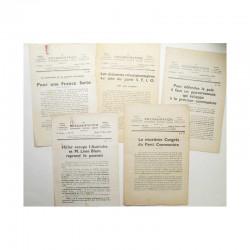 Lot de 5 La documentation vers 1930 ( 026 )
