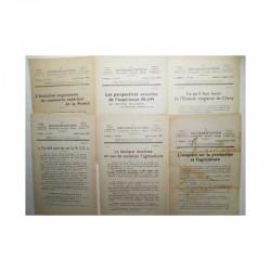 Lot de 6 La documentation vers 1930 ( 027 )