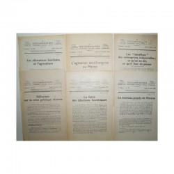 Lot de 6 La documentation vers 1930 ( 028 )
