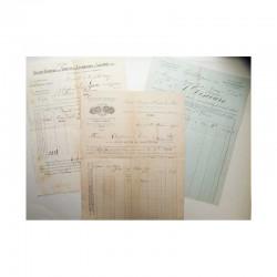 Lot de 3 factures pour Monaco vers 1900 ( 004)