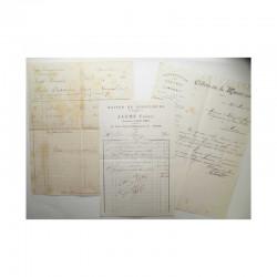 Lot de 3 factures pour Monaco vers 1900 ( 006 )