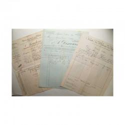 Lot de 3 factures pour Monaco vers 1900 ( 007 )
