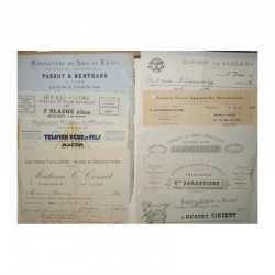 Lot de 10 factures vers 1900 ( 026 )