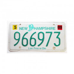 Plaque d Immatriculation USA - New Hampshire ( 555 )