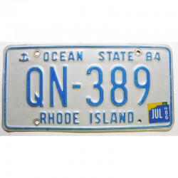 Plaque d Immatriculation USA - Rhode Island avec vignette ( 554 )