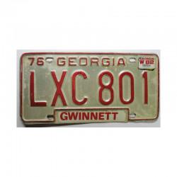 Plaque d Immatriculation USA - Georgia ( 621 )