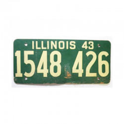 Plaque d Immatriculation USA - Illinois ( 619 )