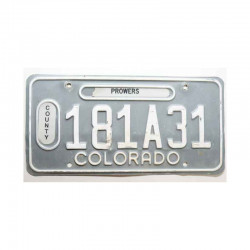Plaque d Immatriculation USA - Colorado ( 616 )