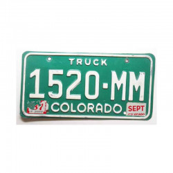 Plaque d Immatriculation USA - Colorado ( 614 )