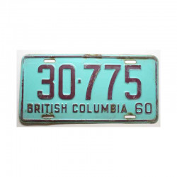 Plaque d Immatriculation Canada British Columbia ( 611 )