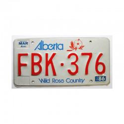 Plaque d Immatriculation Canada Alberta ( 610 )